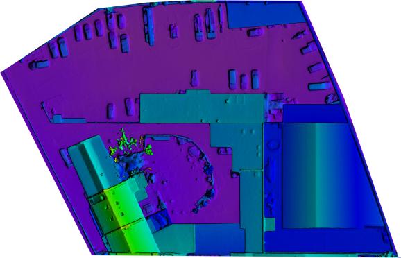 Beispiel für Orthofotos und DEM-Fotos, Luftbilder von Luftaufnahmen.NRW