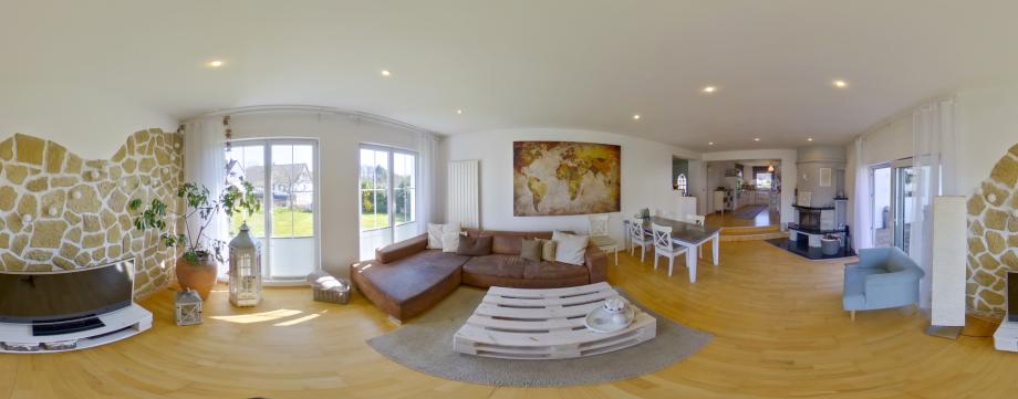360-Grad Hotel-Panorama Indoor von Luftaufnahmen.NRW